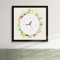 iw061-다같이돌자동네한바퀴액자벽시계_디자인액자시계