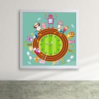 iw069-동물들의신나는운동회액자벽시계_디자인액자시계