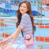 [데이라이프] 미니멀 포켓 크로스백 (핑크)