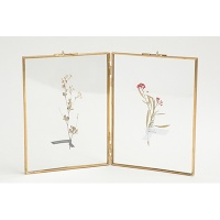 DOUBLE GLASS FRAME - BRASS