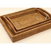 미얀마 고급라탄 직사각트레이/손잡이쟁반/rattan tray