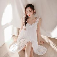 [쿠비카]아일렛 펀칭 민소매 원피스 여성잠옷 W280