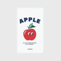 [어프어프] 보조배터리 Leaf apple-white