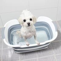 강아지 3단접이식욕조 애견고양이반려동물 폴딩목욕통