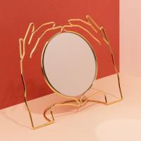 [도이] 엑세리아 화장대 탁상 거울 골드