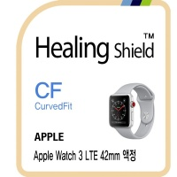 애플 워치3 LTE 42mm 고광택 액정필름2매+심박센서2매