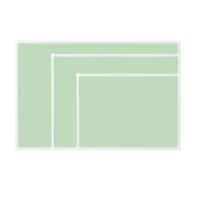 [두문] 더슬림자석보드 그린 470x345mm