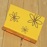 꽂문양이 그려져 ART한-Woodro House 플라워 패턴 독서대 시리즈 yellow B463-2