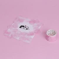 꽃잎 마스킹테이프 분홍 장미
