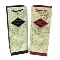포포팬시 지도 와인 쇼핑백