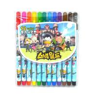 스낵월드 12색 싸인펜