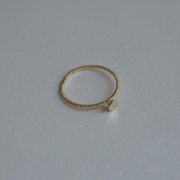 14k gold twin circle ring 1