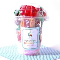 빨간스카프펭귄 선물포장 24개셋트(투명컵)