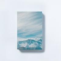 [타이드] 인테리어소품 캔버스액자 스노우 블루마운틴2