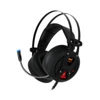 녹스 액티브 노이즈 컨트롤 게이밍 헤드셋 NX-4 BLACK-HOLE (노이즈 캔슬링 / 바이브레이션 기술 / 가상 7.1채널)