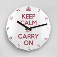 리플렉스 KEEP CALM AND CARRY ON 12각 무소음벽시계 KP12RD
