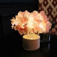 핑크 수국 LED 무드등