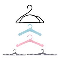 아바드 온가족 디자인 옷걸이 세트10개입 색상혼합