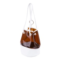 Fennec PVC Bucket Bag - White