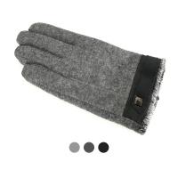 [디꾸보]방한 배색 이너 인조털 남성장갑 ST807