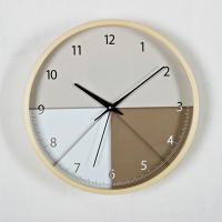 (kjya475)저소음 삼각패턴 원목벽시계