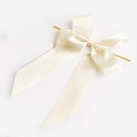 [인디고샵] 빵끈 달린 크림 더블 완성리본(5개)