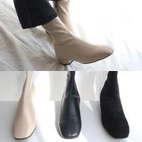 [애슬릿]발 편한 지퍼 여성 스판 앵클 부츠 3cm