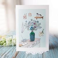 화병 리본 꽃카드 FT222-6