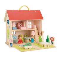 [무료배송]빨강 지붕복층 돌 하우스 보관함 일체형
