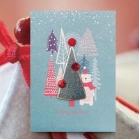 크리스마스카드/성탄절/트리/산타 숲속 크리스마스카드 FS1025-6