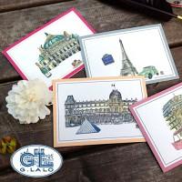 [조지라로] Paris card 낱장 (4가지색상)