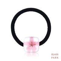 [무료배송] [글라스파크]벚꽃유리 머리끈(핑크)