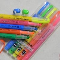 [KOKUYO] 굵고 얇게 그리고 2중선 까지..일본 고쿠요 3way 형광펜-비틀팁 5색세트 C258