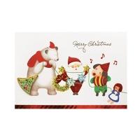 크리스마스카드/성탄절/트리/산타 룰루랄라 크리스마스(FS1018-1)