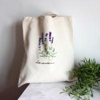 자수의 온도 프랑스자수 DIY 에코백 만들기 라벤더