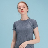 여성 스포츠 슬림핏 티셔츠 DFW5009 네이비