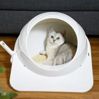 [봉봉펫닷컴] 원통 후드형 고양이 화장실 숨숨집