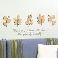 [우드스티커] 작은잎 (반제품)