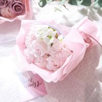카네이션 장미 비누꽃 꽃다발 페일