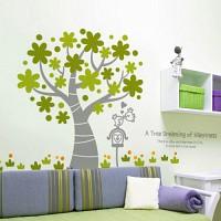 행복을 꿈꾸는 나무 [인테리어스티커/포인트스티커/데코스티커/홈데코]