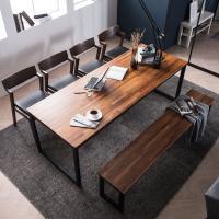 [채우리] 루킹 멀바우원목 8인식탁세트(의자/벤치)