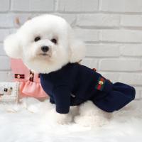 강아지원피스 고양이드레스 애견고급옷 금단추 원피스