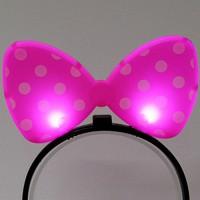 LED점등 리본머리띠 (핑크)