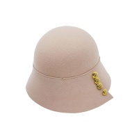 [에반스]Button felt Hat 버튼 펠트모자_light beige