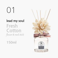 Lead my soul 플라워 디퓨저 150ml - 프레쉬 코튼 (Fresh Cotton)