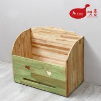 앳홈 스마일 원목 대형 이동식 정리함 /청소기 보관함