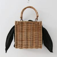 Rattan Square Tote Bag