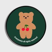 Cherry big bear-dark green(스마트톡)