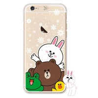 [SG DESIGN]iPhone6/ iPhone6 Plus 라인프렌즈 SNOW TOGETHER LIGHT UP Case-Gold(하드타입/라이팅)
