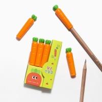 핑크풋 당근 연필캡 3p
